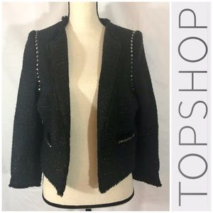 LOOK Topshop Cropped Blazer with Stud Accents